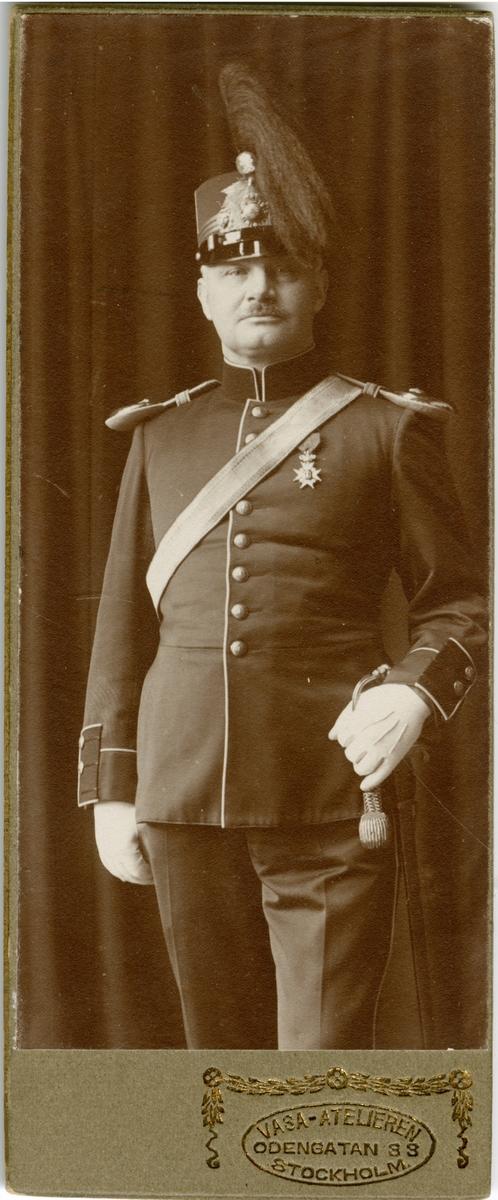 Porträtt av Lars Gustaf Laurentius Regnér, bataljonsveterinär vid Svea trängkår T 1.
