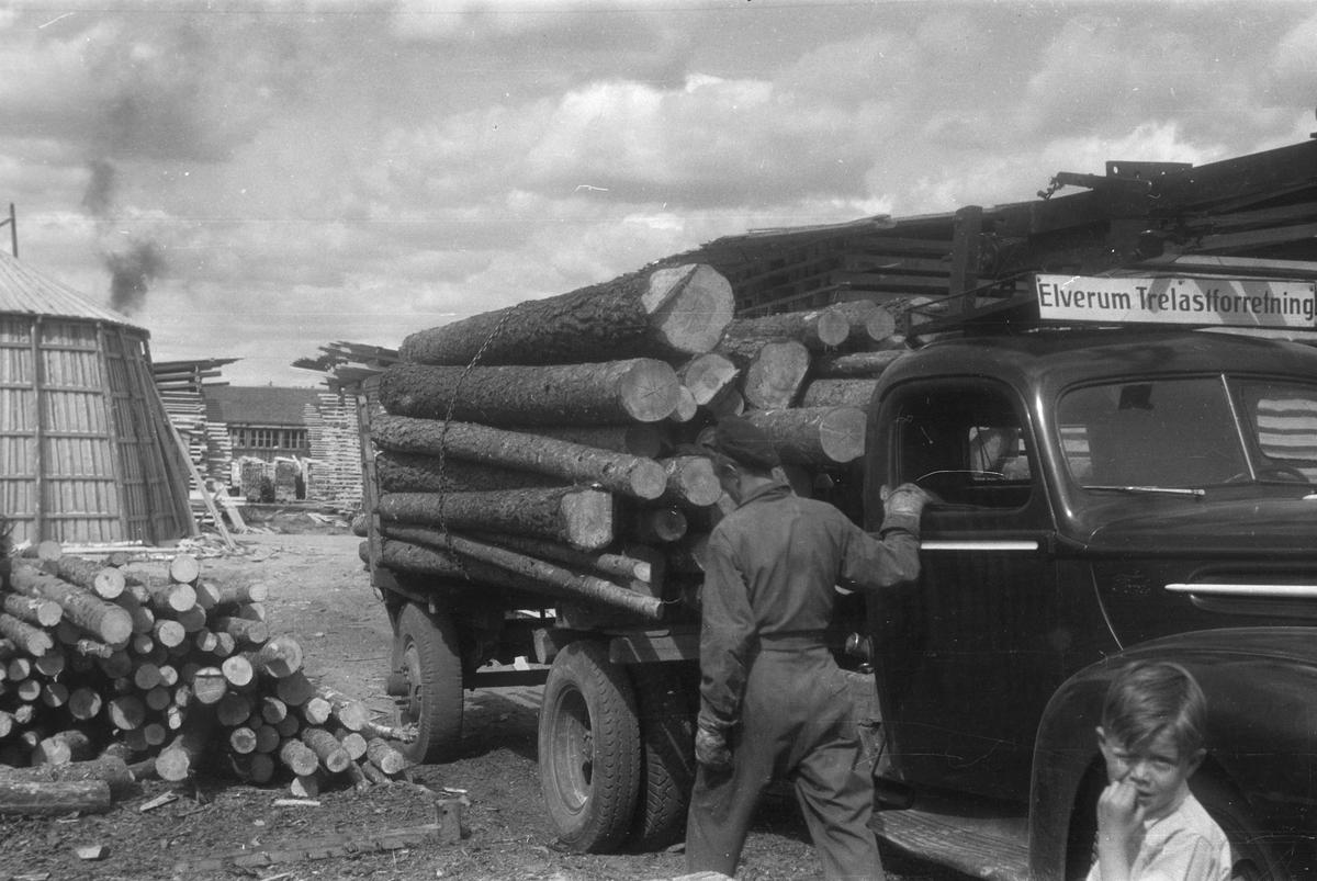 Tømmerlasting,lastebil