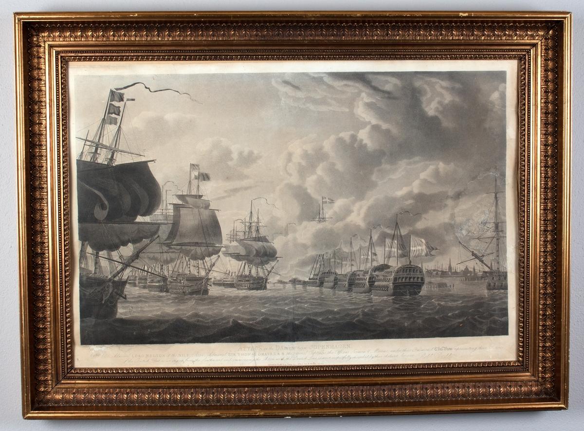 Britiske orlogsskip angriper danske fartøy rett utenfor København- Kampen om Københavns red.