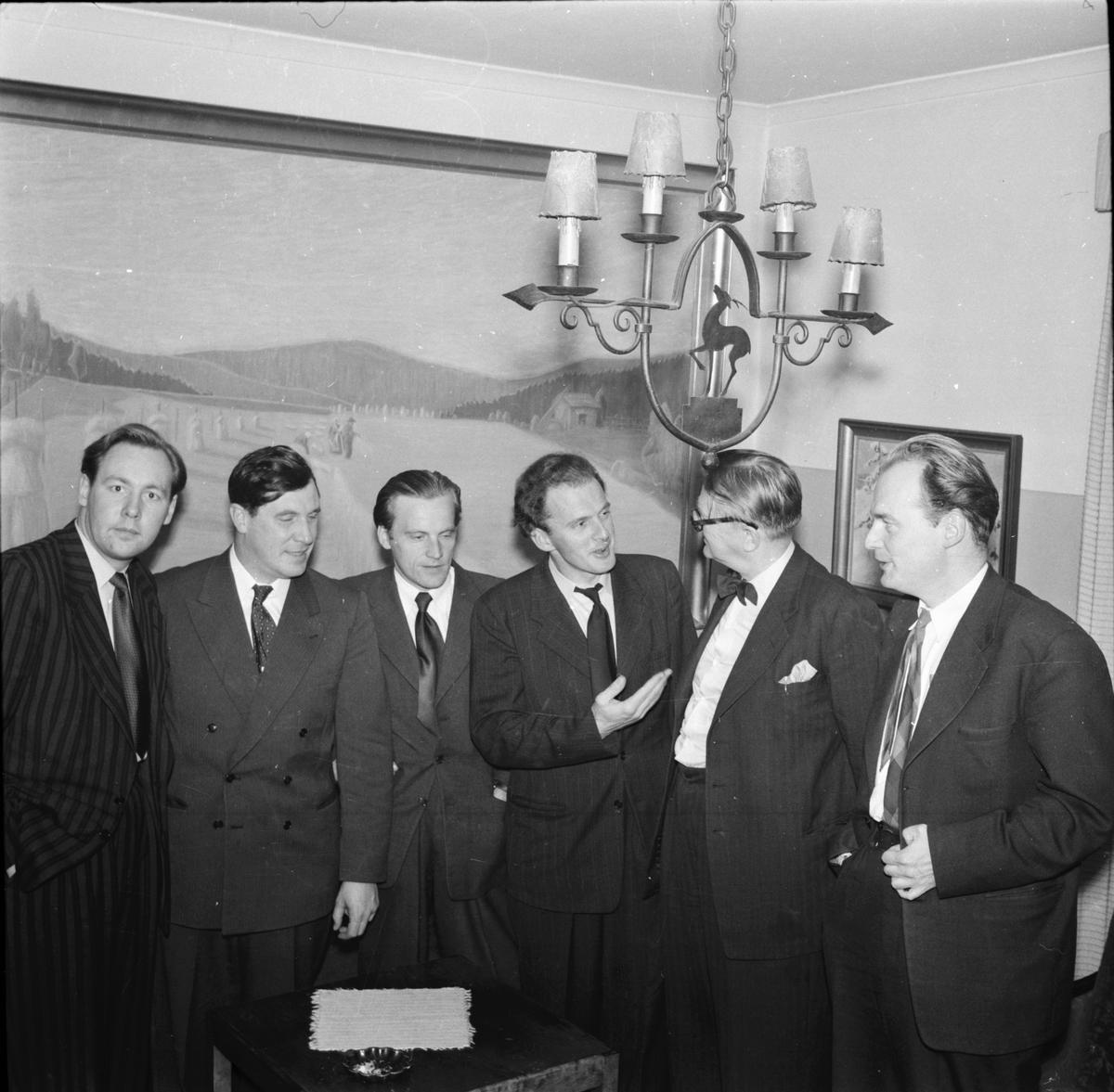 Unga författare Störta tidskrift Karl-Rune Nordqvist, Arne Andersson, Sven Bergkvist Sven Nikotin, Börje Sundberg Bollnäs
