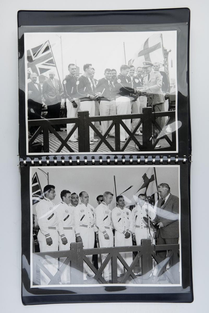 Fotoalbum med fotografier fra The twentieth annual international seamen's lifeboat race 19. mai 1959.