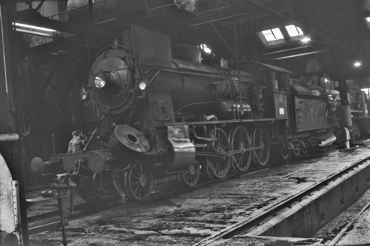 Damplokomotiv type 30b nr. 356 i Gamlestallen i Lodalen i Oslo.