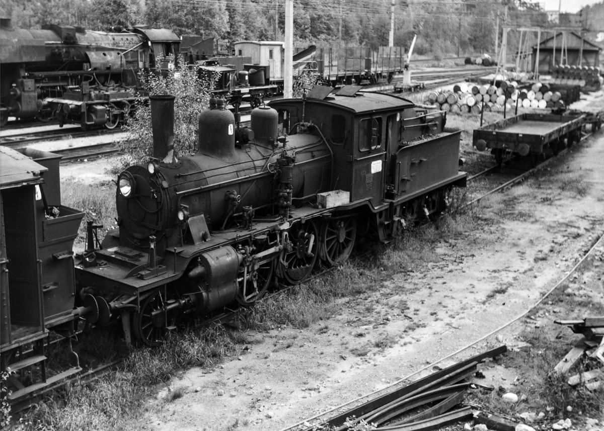 Hensatt damplokomotiv type 21a nr. 146 på Krossen ved Kristiansand.