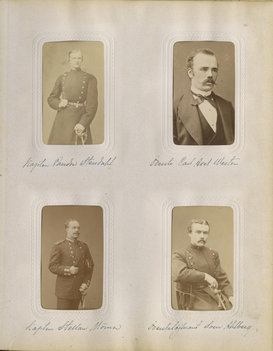 Porträtt av Stellan Christer Hampus Magnus Mörner, löjtnant vid Västgöta regemente I 6.