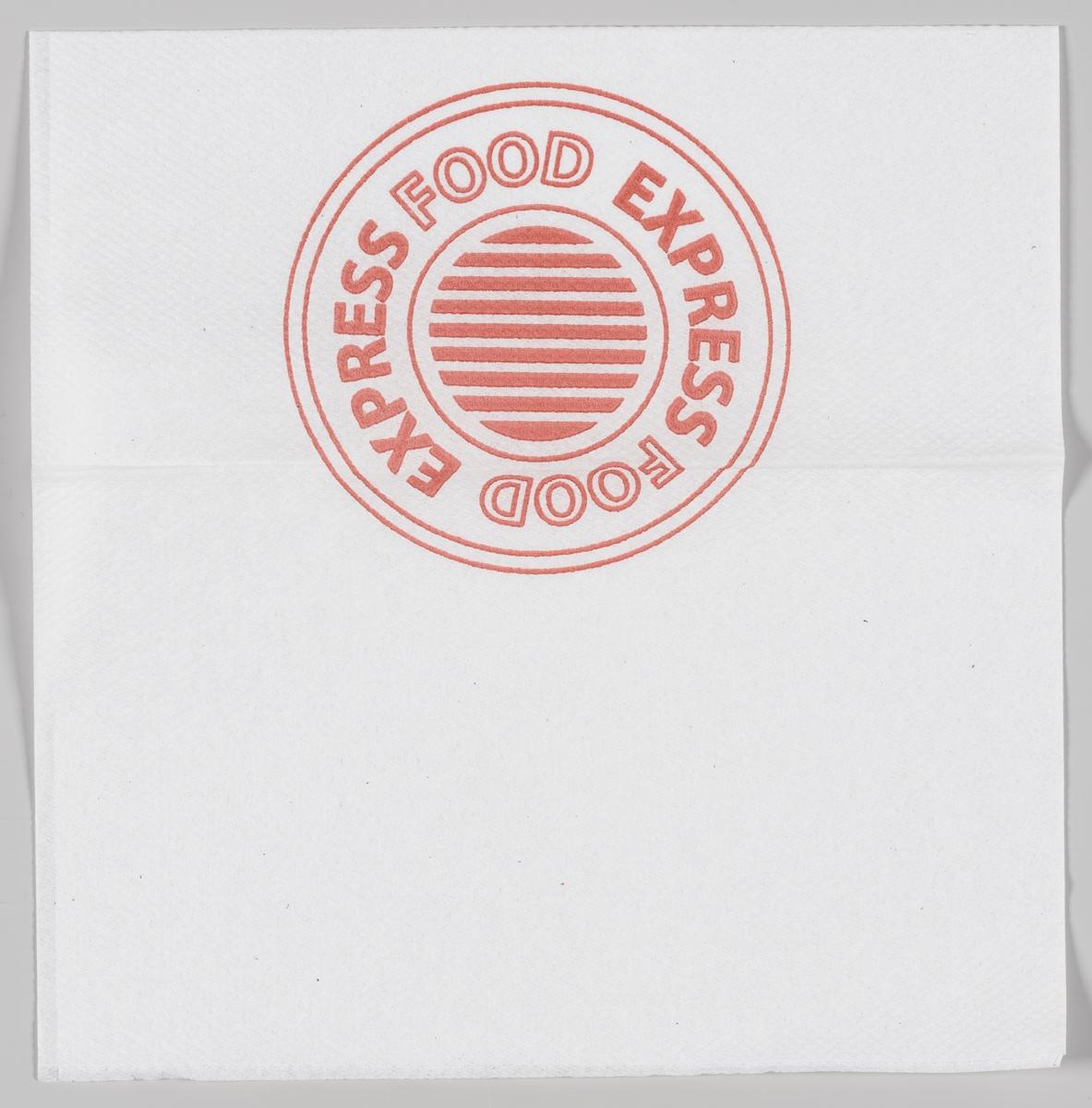 En sirkel med reklametekst for Express Food.  Samme motiv og reklametekst på MIA.00007-004-0171.