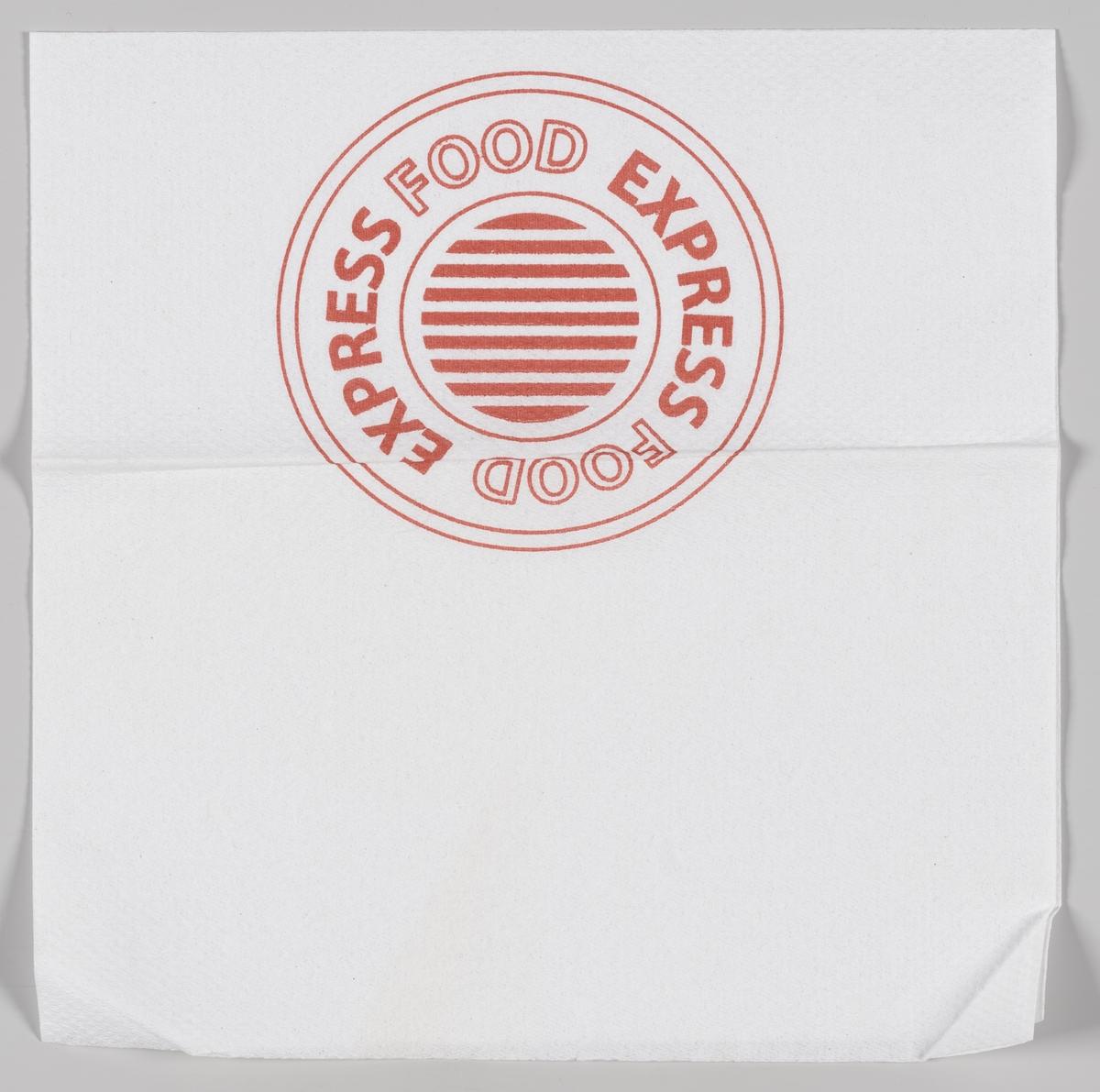 En sirkel med reklametekst for Express Food.  Samme tekst og motiv på MIA.00007-004-0137.
