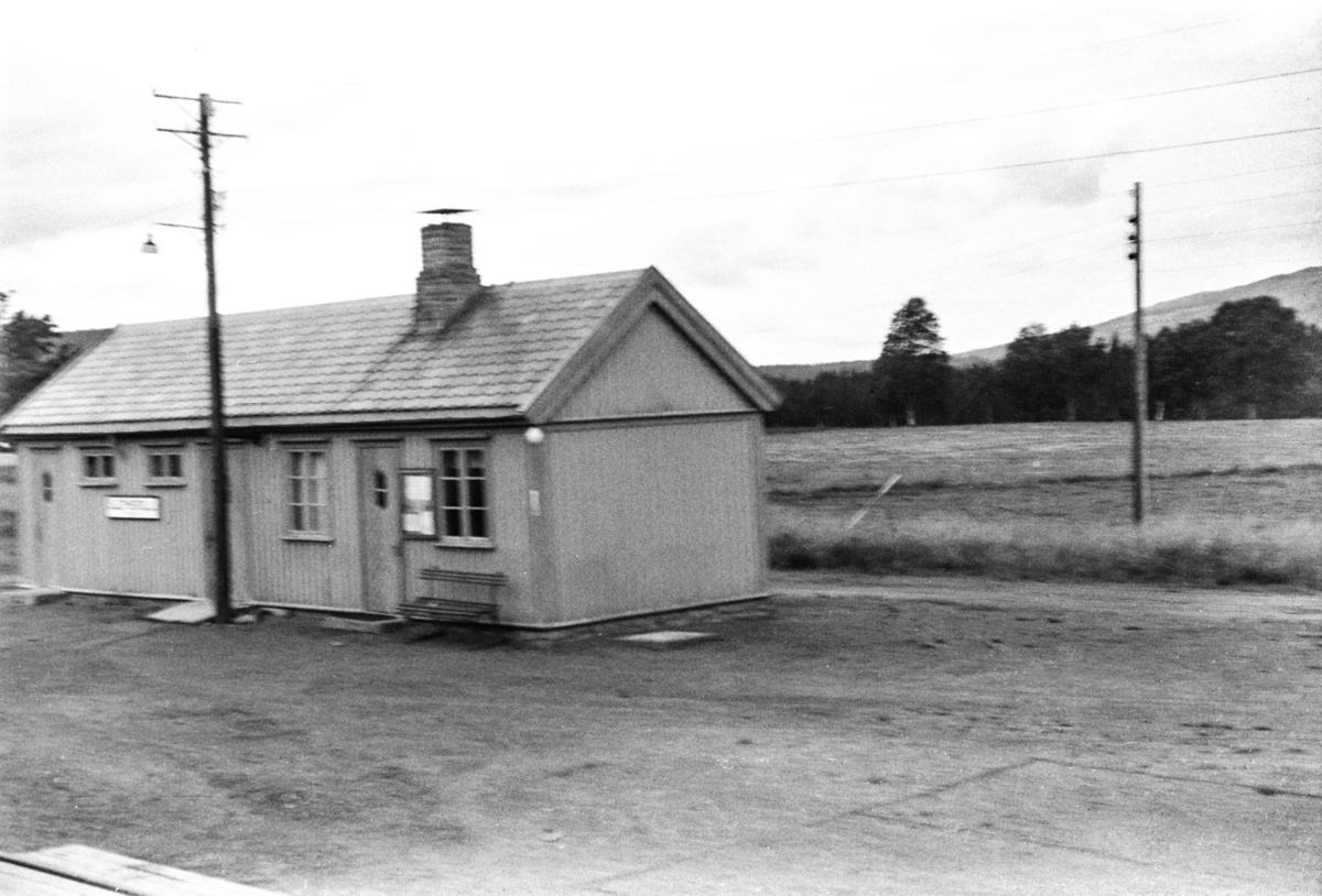 Sjemsvoll stasjon på Namsosbanen.