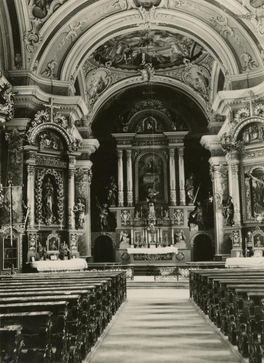 Motiv av et kirkekor i ei kirke i Tirol, Italia.