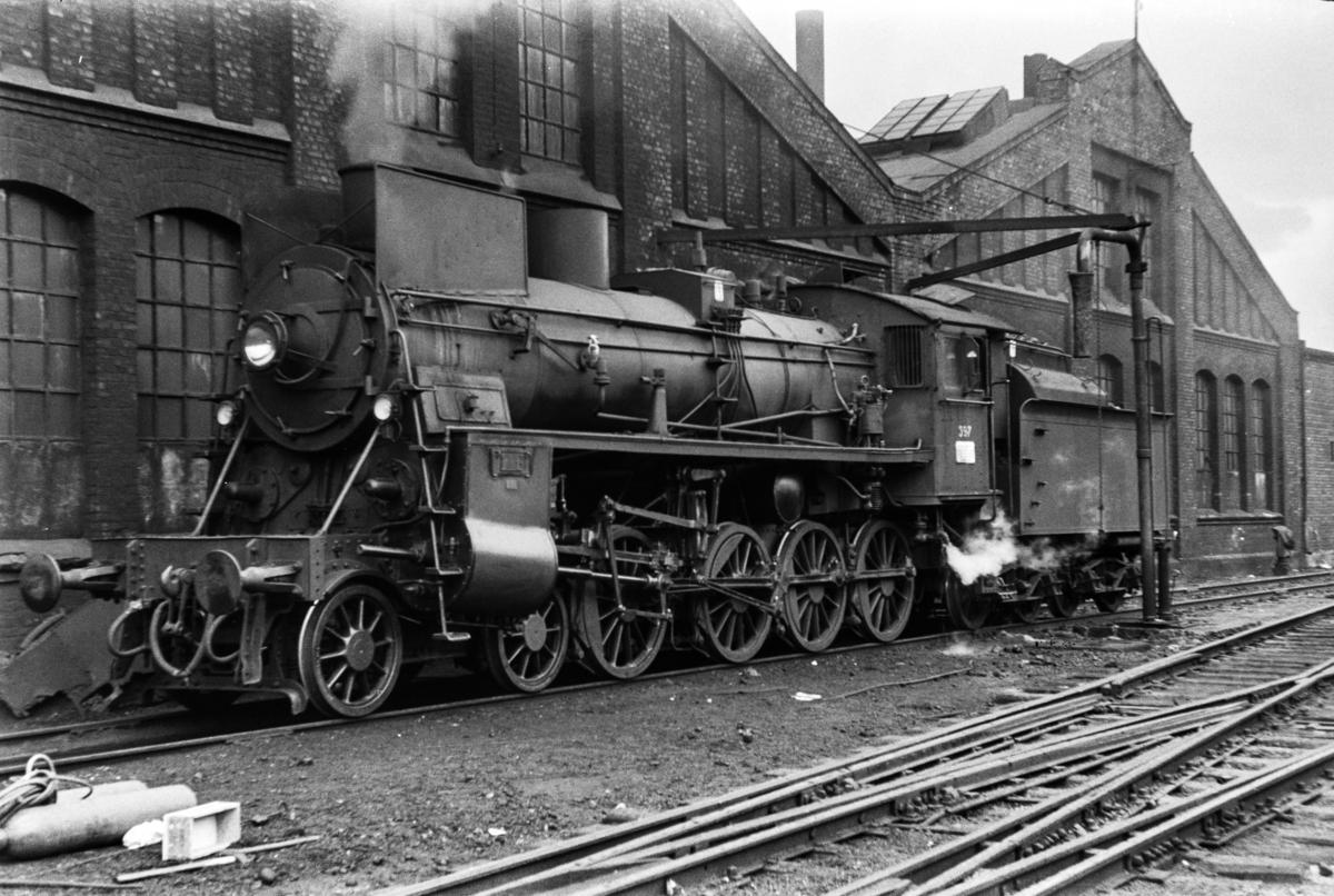 Damplokomotiv type 26c nr. 397 ved Gamlestallen i Lodalen i Oslo.