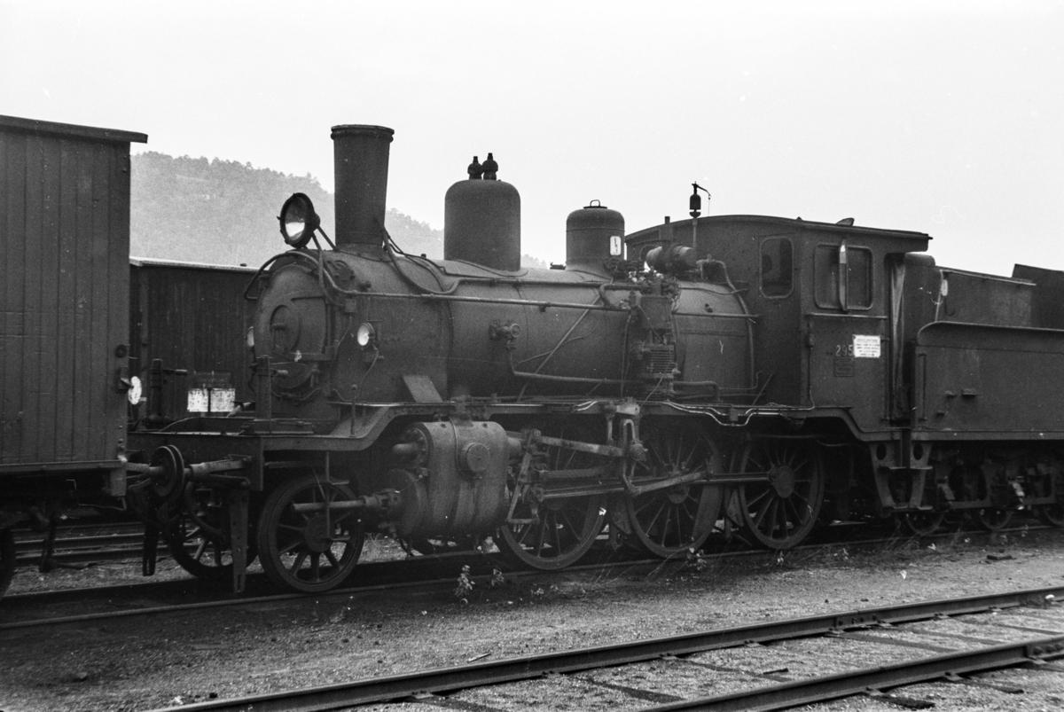 Utrangert damplokomotiv type 21b nr. 295 i Lodalen i Oslo.