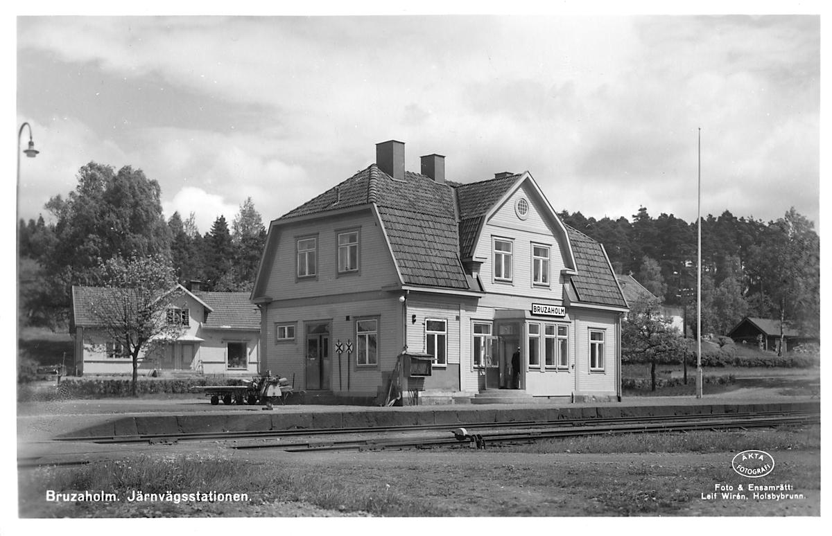 Bruzaholm järnvägsstation.