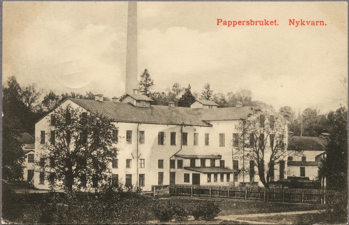 Pappersbruket i Nykvarn.