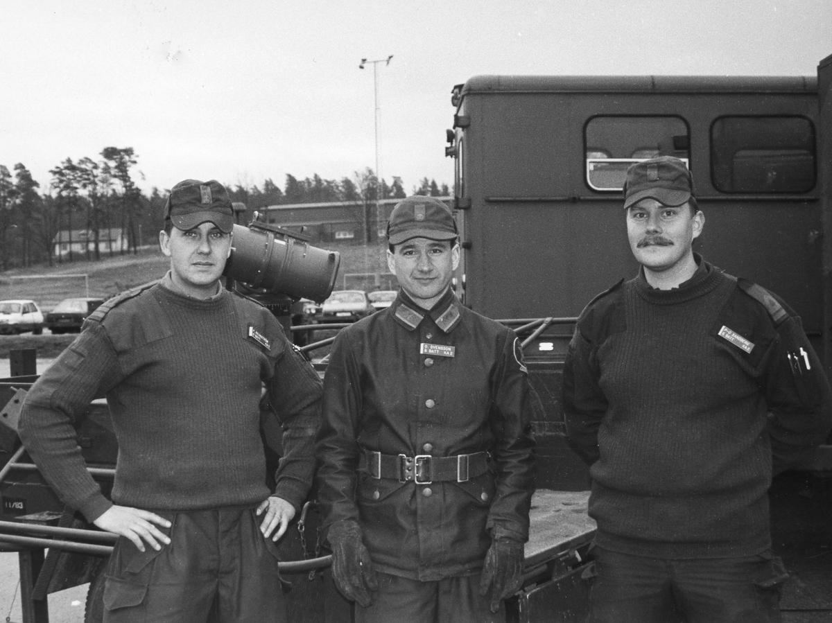 Befäl på luftvärnspluton vid 6. batt utbildningsåret 1990-1991