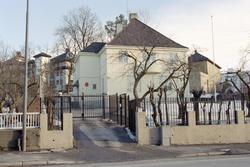 Oslo: Halvdan Svartes gate. Tyrkiske Ambassade. 19. mars 199