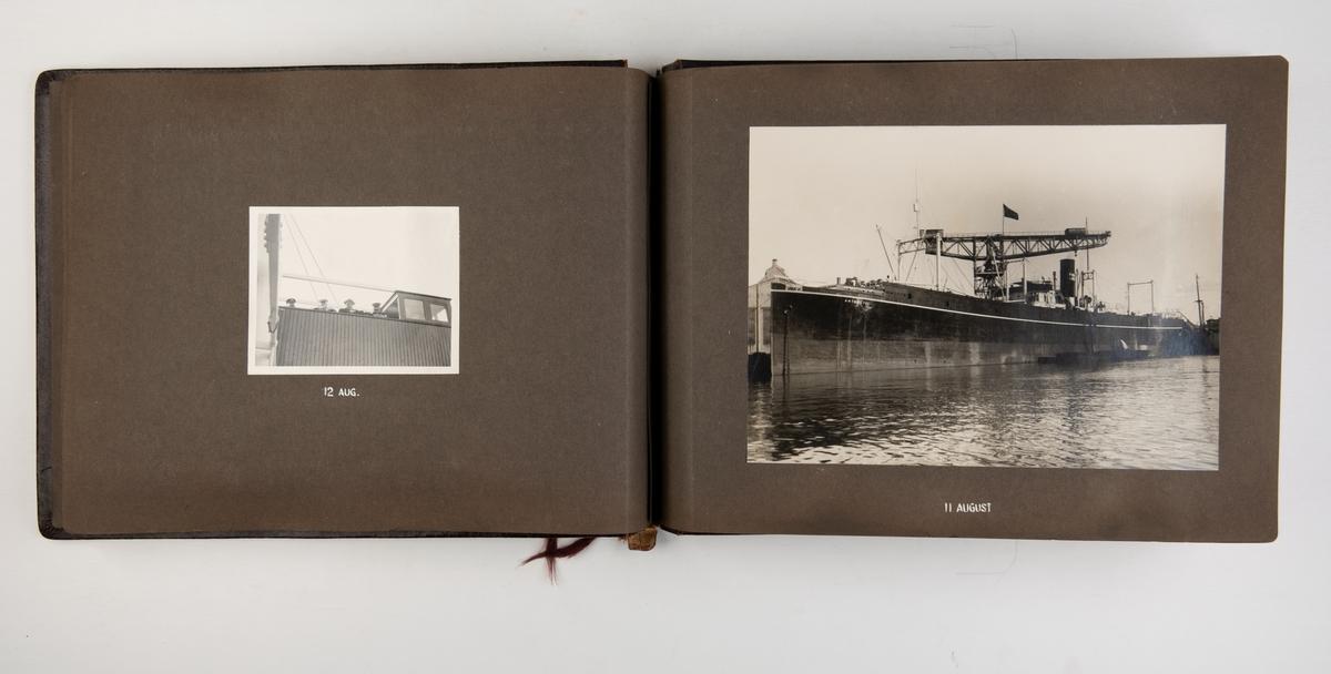 Fotoalbum med bilder av T/S 'Antarctic' ombygget ved A/S Akers Mek. Verksted.