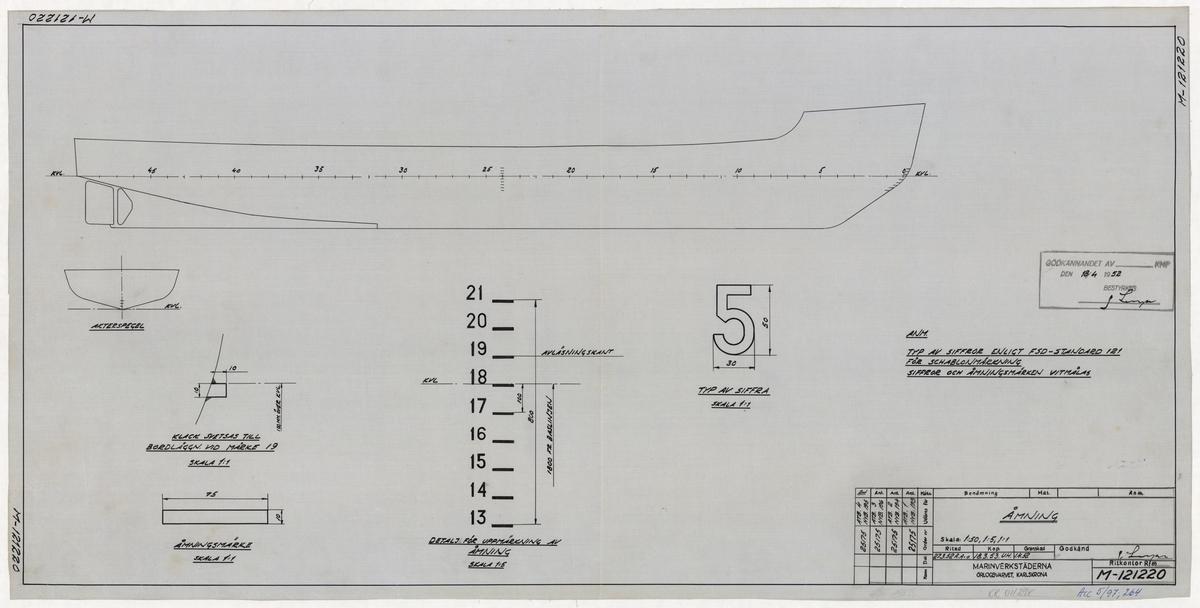 Ammunitionstransportbåt 1-4, statsisbrytare,  Åmning