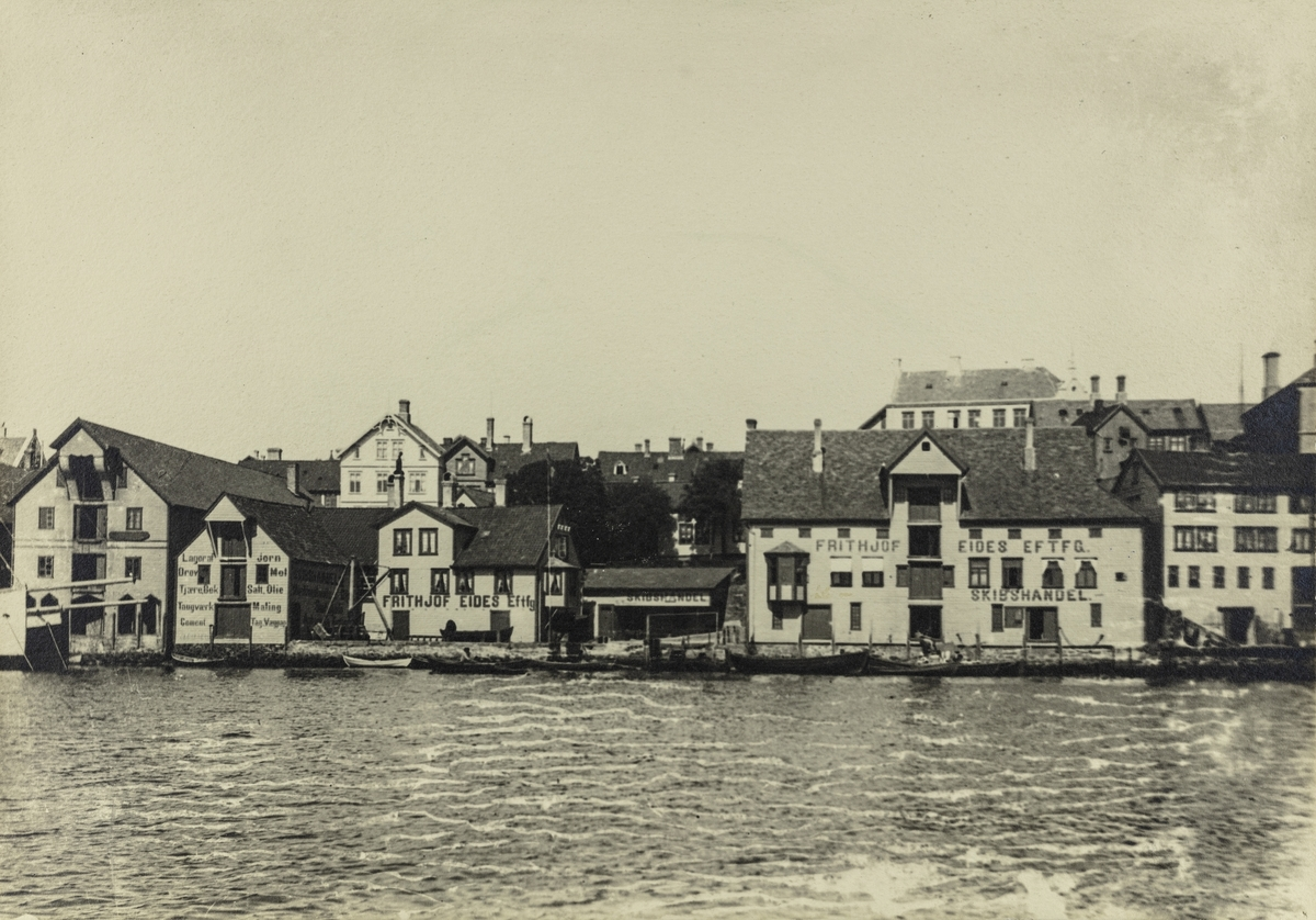 Smedasundet ved Krossen sett mot øst, ca. 1910.