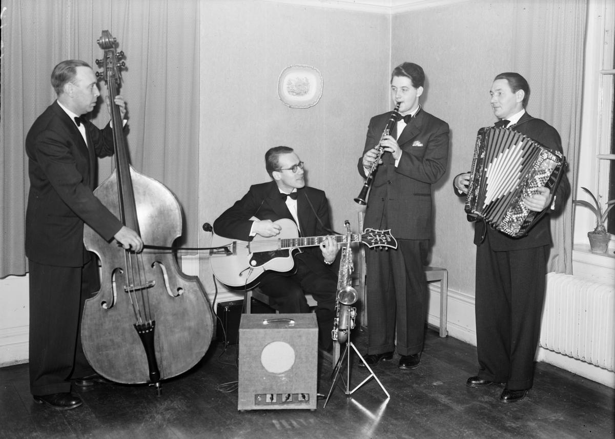 Fyra musiker, Uppsala 1951