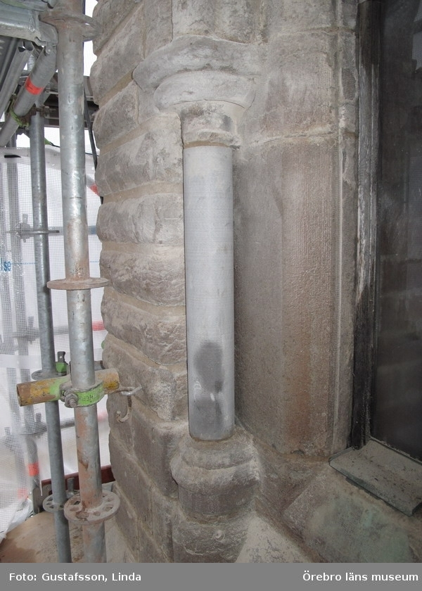 Renoveringsarbeten av tornfasader på Olaus Petri kyrka (Olaus Petri församling).Nya kolonner på västra trapphustornen samt fasaden.Dnr: 2008.230.065