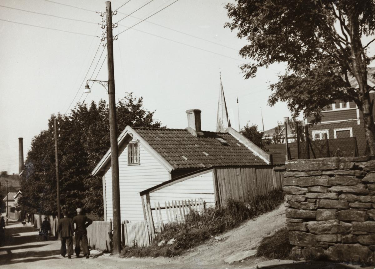 Djupaskarvegen sett mot vest, ca. 1938.