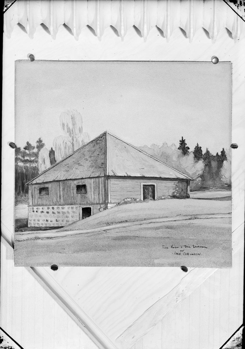 Målning - byggnad, Östhammar, Uppland