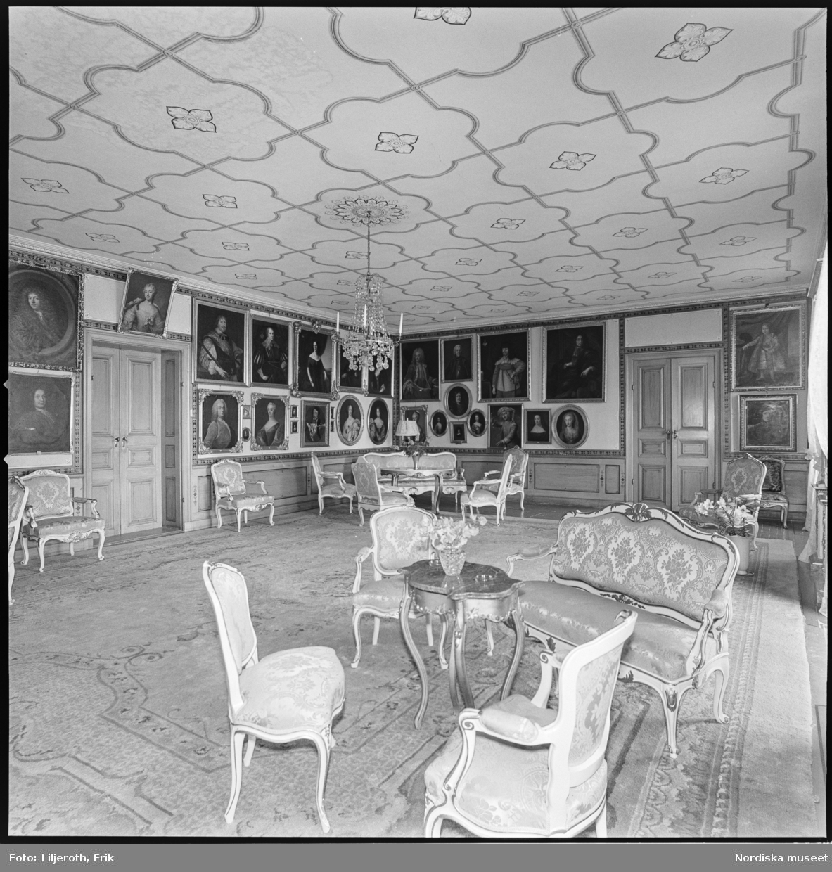 Wibyholm, slott, interiör, Årdala socken, Södermanland.