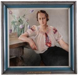 Porträtt av Dagmar Humbla [Målning]