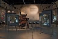 Stadshistoriska utställningen i arkivhuset. Bild tagen in i
