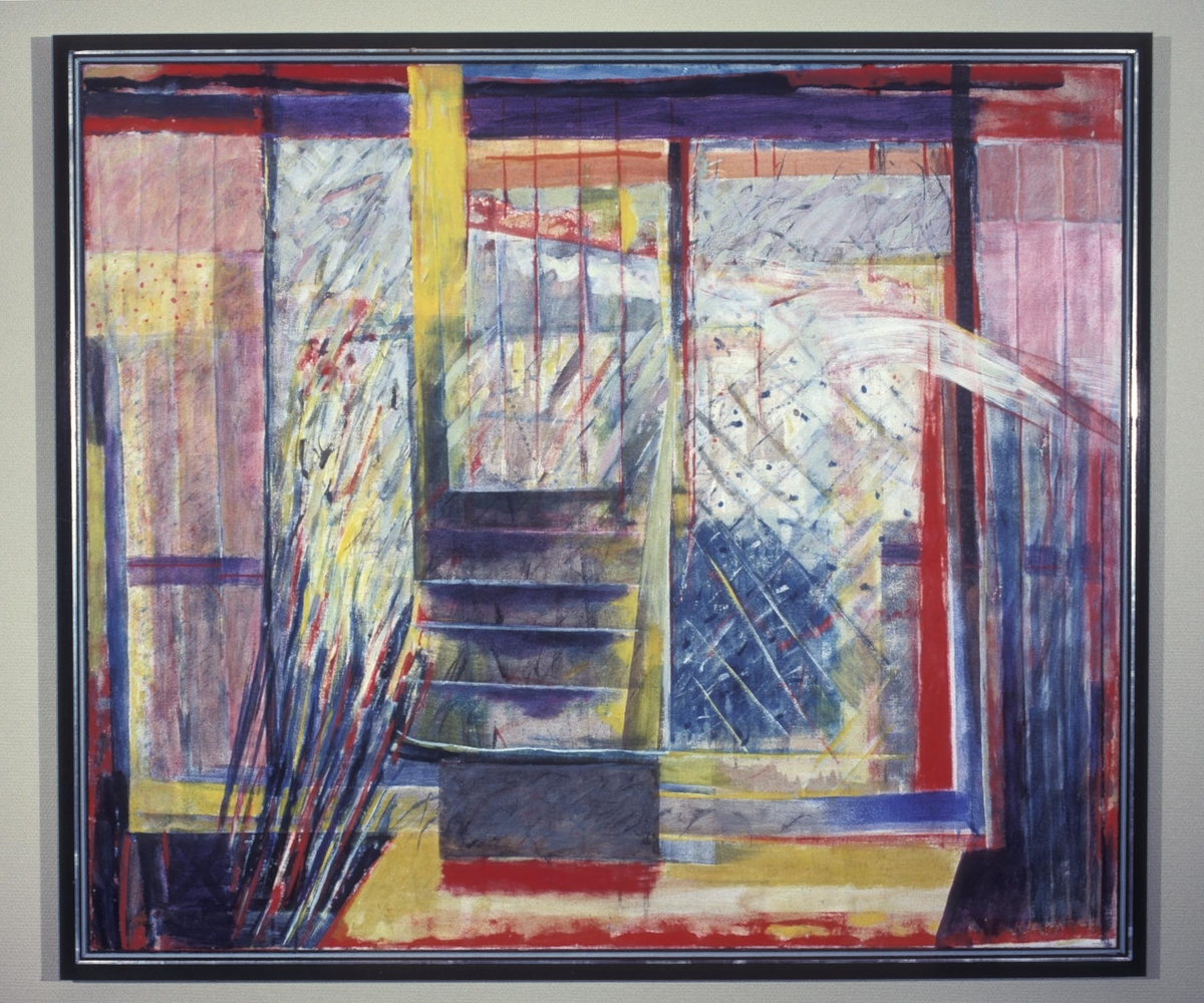 Ett av to malerier innkjøpt fra kunstner. Se aksesjon.