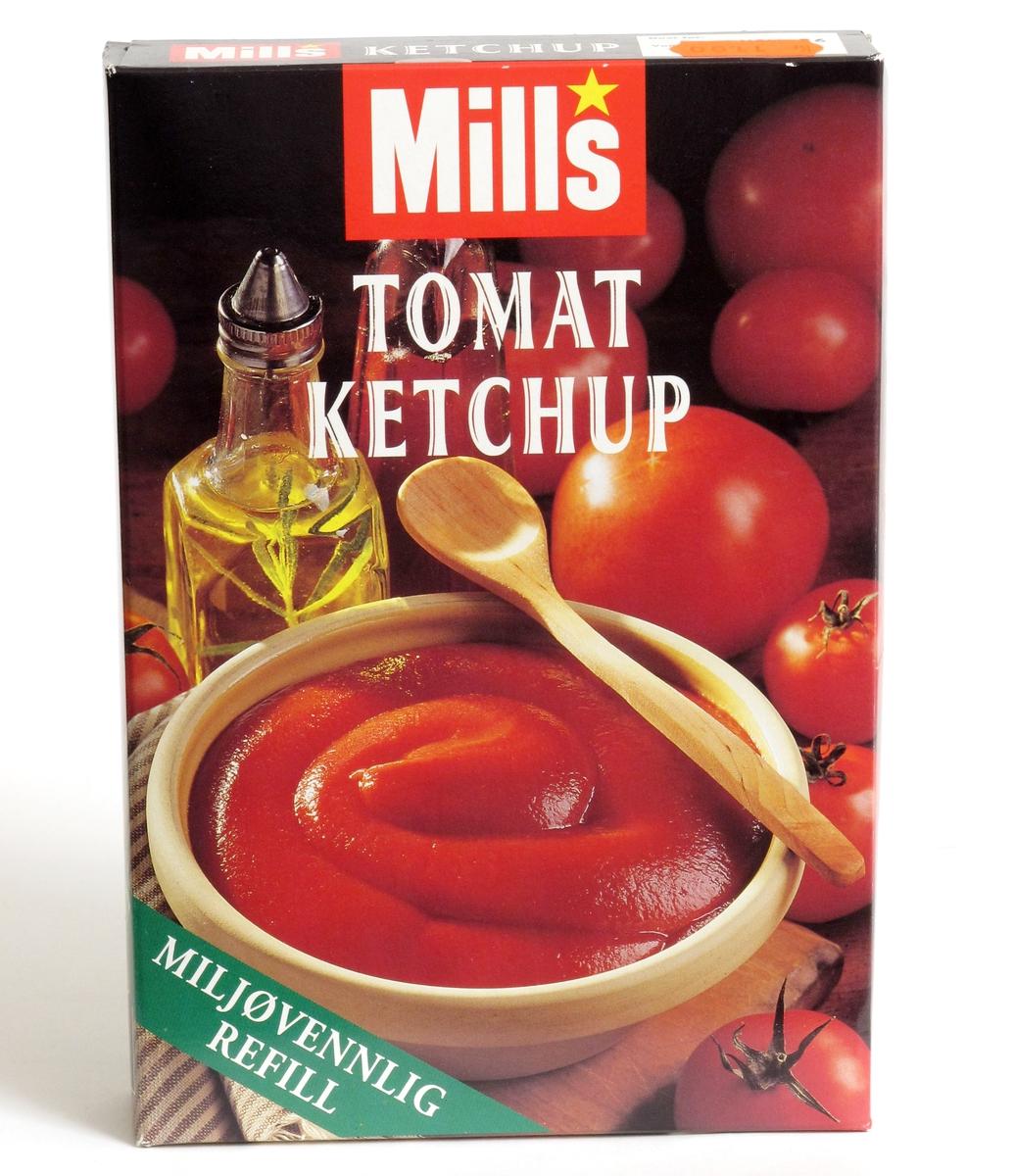 Tomater, tomatketchup og olje.