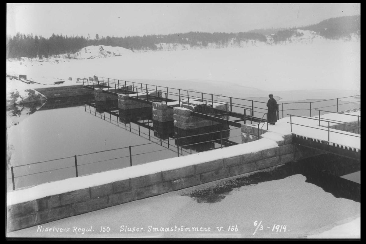 Arendal Fossekompani i begynnelsen av 1900-tallet CD merket 0446, Bilde: 18 Sted: Småstraumen Beskrivelse: Regulering