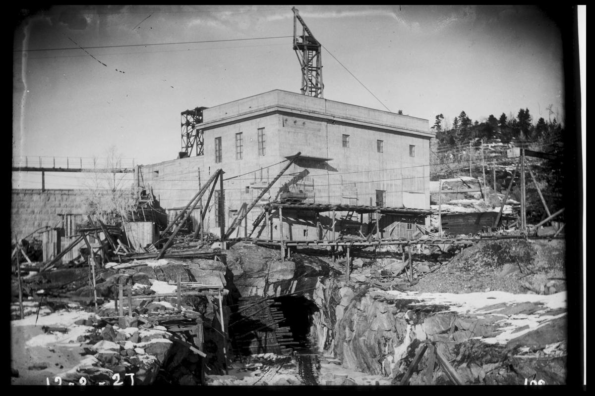 Arendal Fossekompani i begynnelsen av 1900-tallet CD merket 0468, Bilde: 56 Sted: Flaten Beskrivelse: Kraftstasjonen