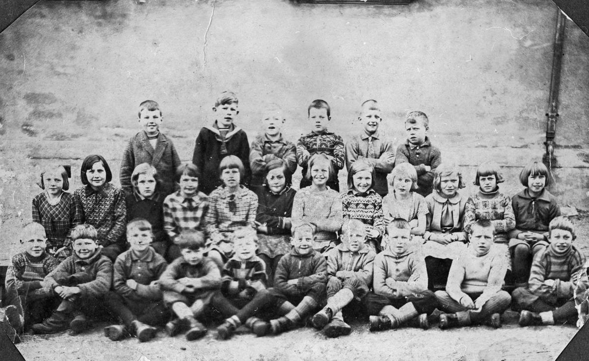 Skoleklasse fra Greverud ca. 1930