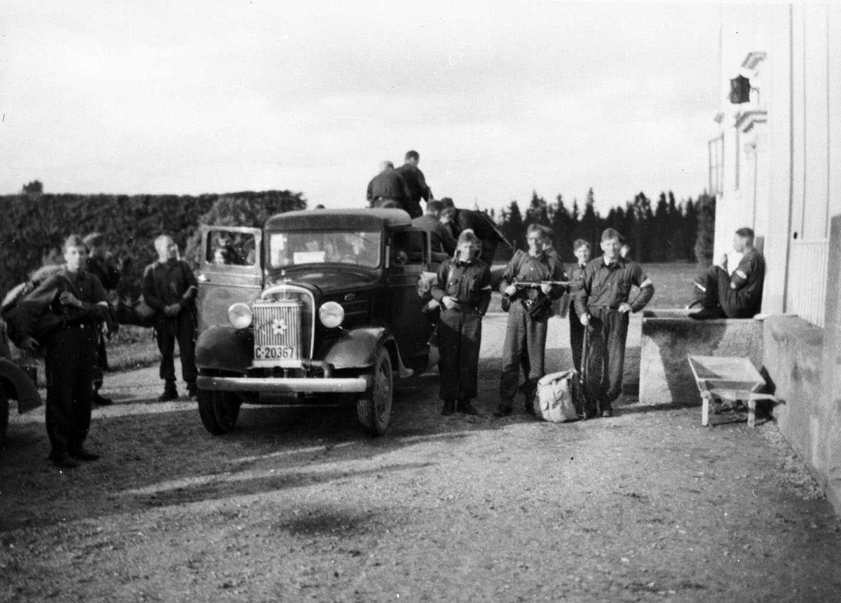 Skedsmo pleiehjem som hovedkvarter for det som trolig er Arbeidstjenesten (AT) under krigen.