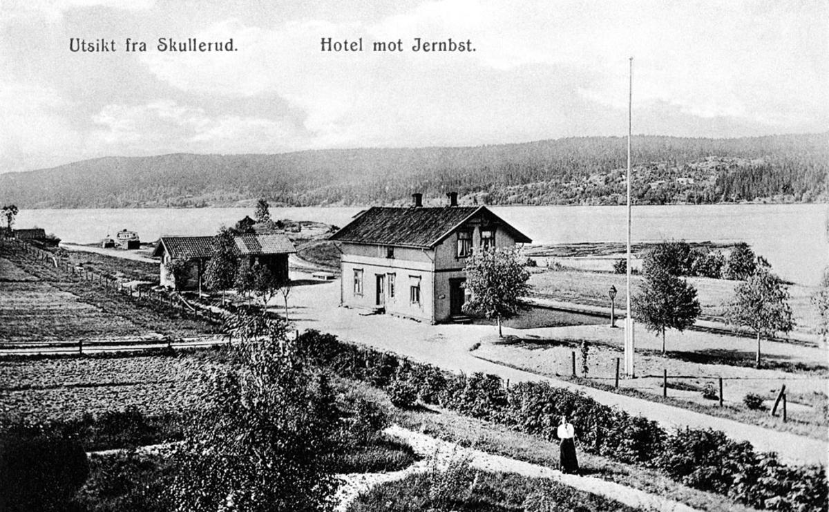 Oversiktsbilde over Skulerud sett fra Skulerud hotell