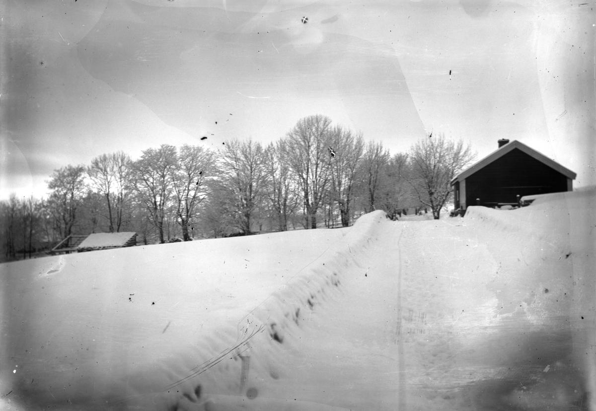 Gammelsmia, før snekkerverkstedet var bygd. Grefsheim, Nes, Hedmark.