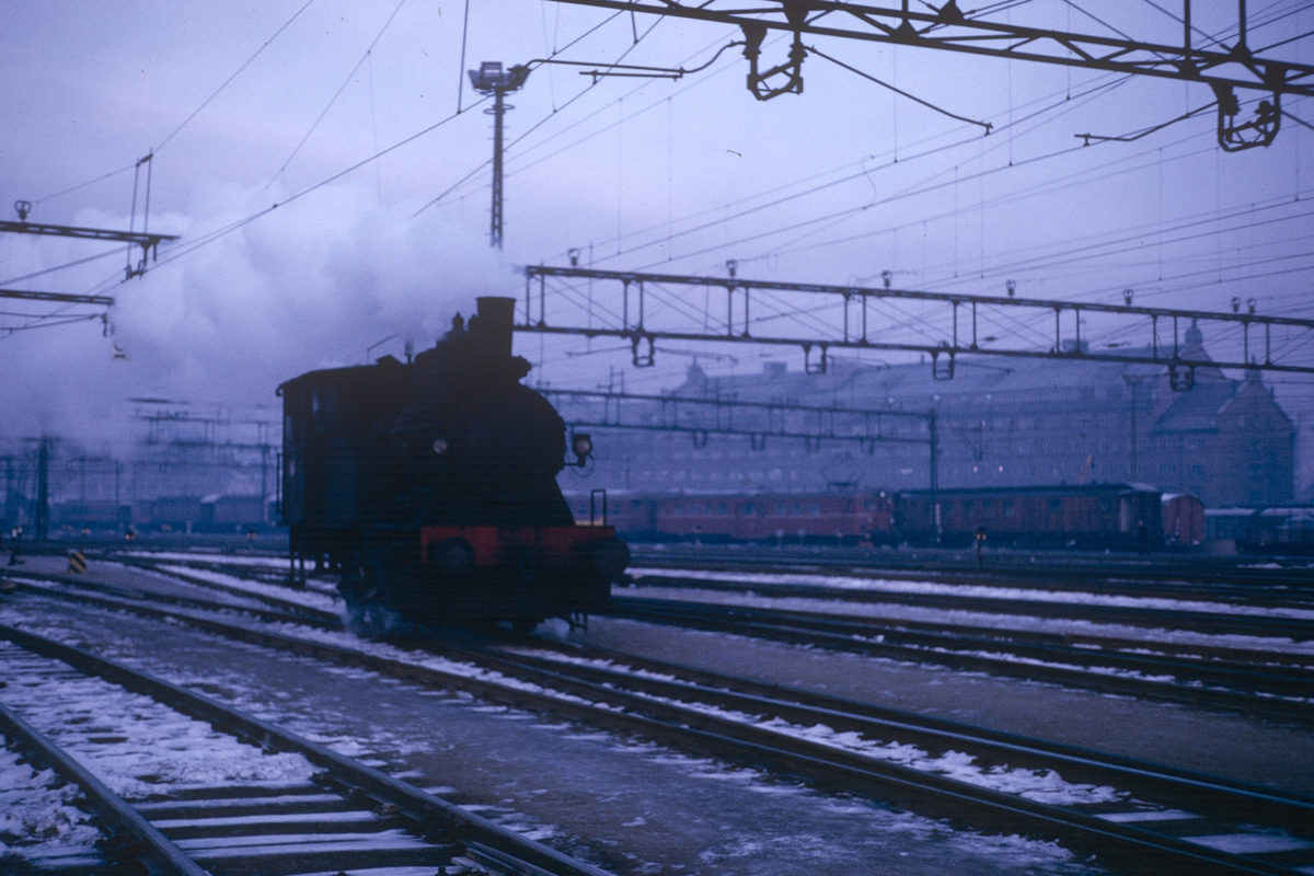 Damplokomotiv type 23b i skiftetjeneste på Oslo Ø