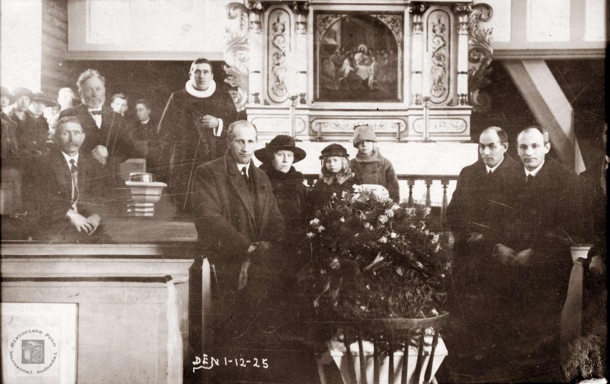 Begravelse til Ånen Nilson Barstad. Konsmo Audnedal.