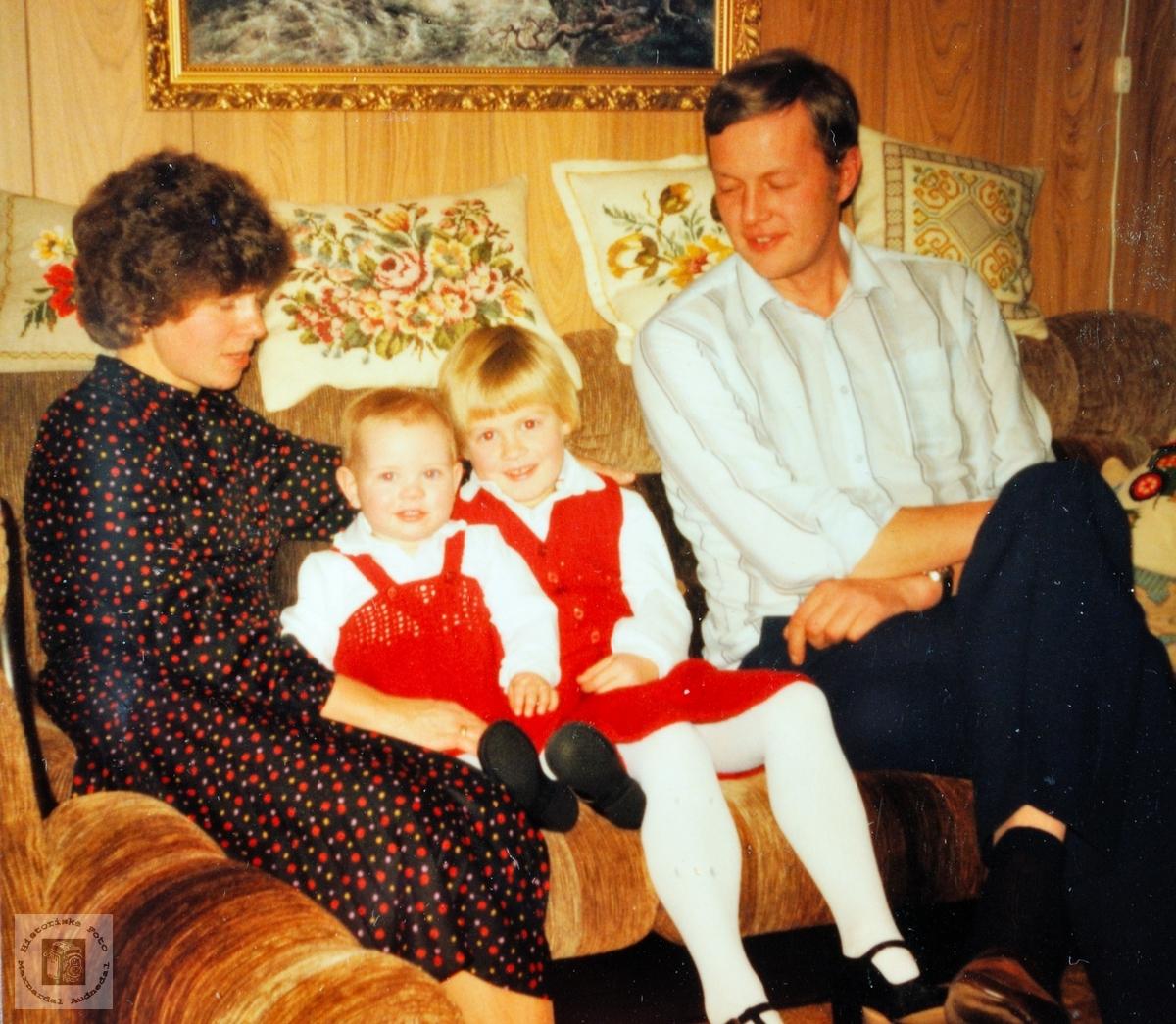 Familiebilde fra Høyland i Konsmo. Audnedal.