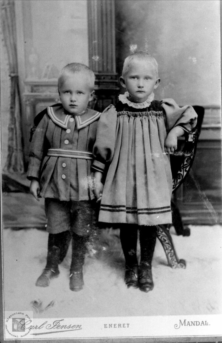 Portrett av Lars  og Ingeborg Skjeggestad, Bjelland.
