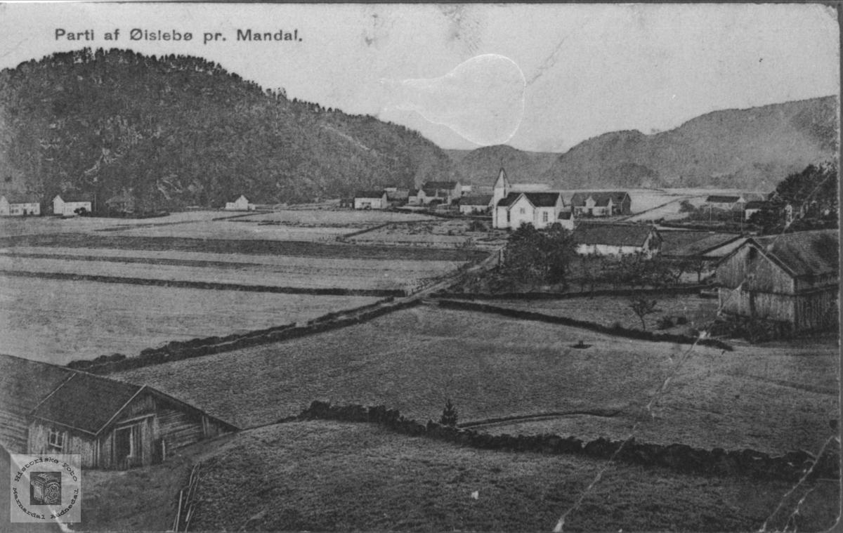 Øyslebøgarden like etter 1900