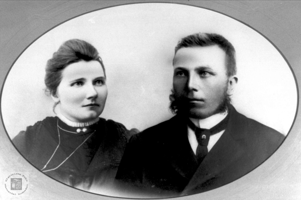 Ekteparet Anna og Ola Finsdal, Øyslebø.