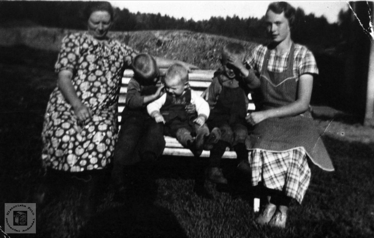 Familiebilde Birkeland, Øyslebø.