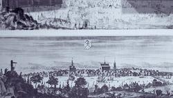 Sundsvall omkring år 1700. Ur Suecia antiqua et hodierna av