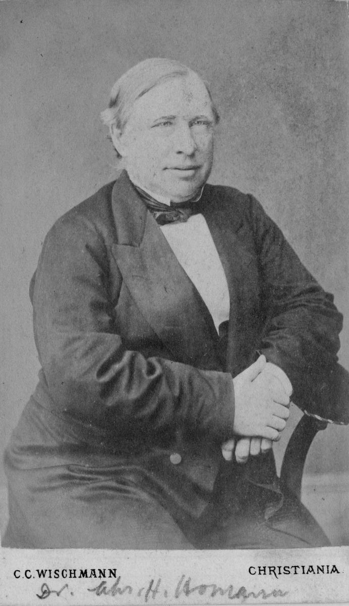 Dr. Christian Horrebow Homann, født i Kragerø 16-8-1826. Døde 11-3-1880