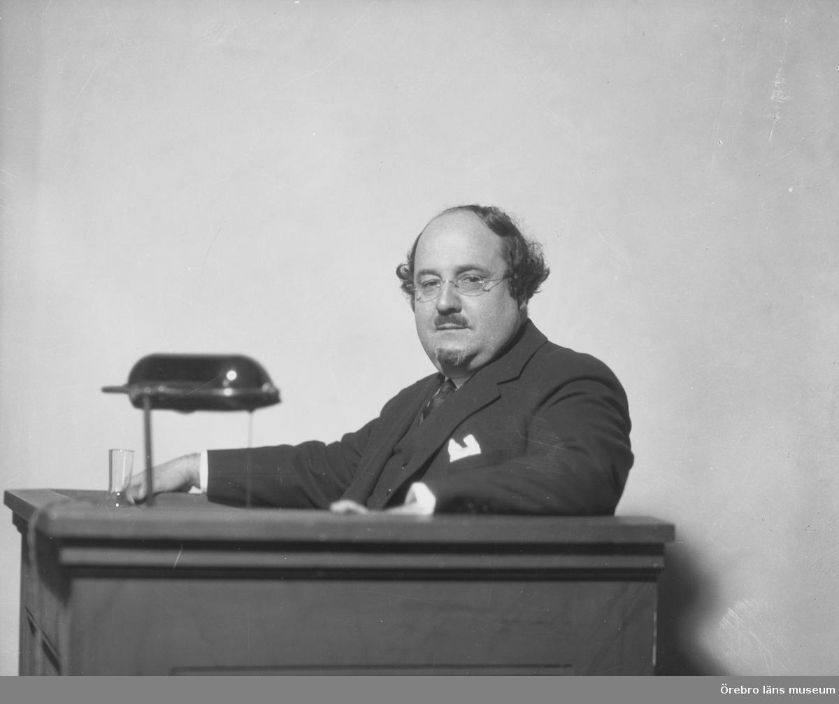 En man.Författaren Ludvig Lubbe Nordström.