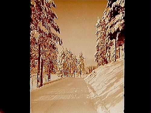 Landsvägen mellan Kil och Nora, vinterbild.Beställningsnr: ER-353.