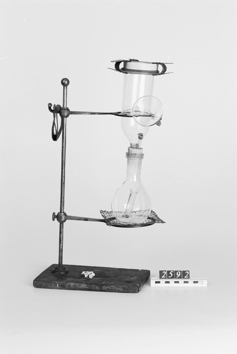 Wiborghs apparat för svavelprov på järn och stål.