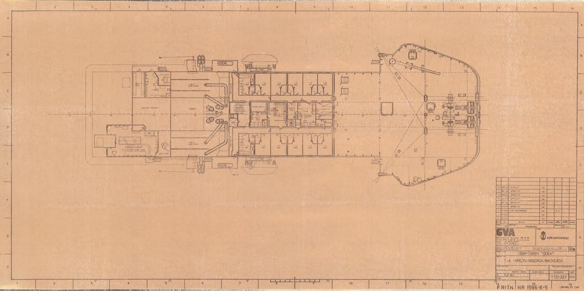 1: inredningsdäck/Backdäck på isbrytaren ODEN.