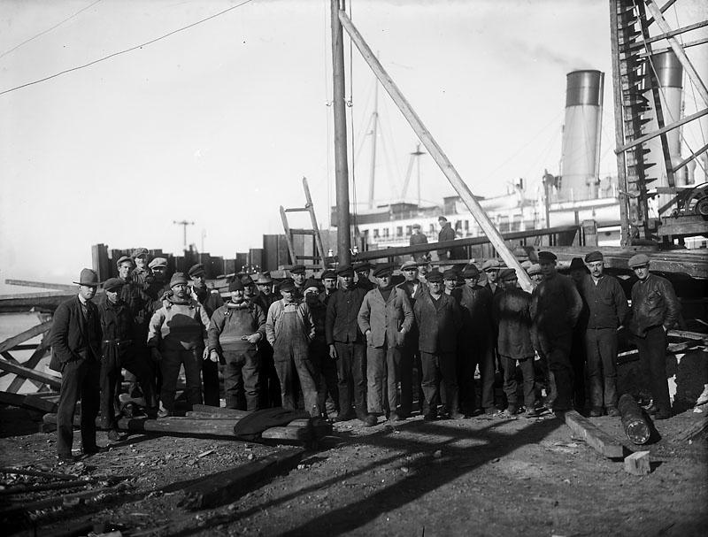 Arbetarna vid färjelägena 1928, 7308.